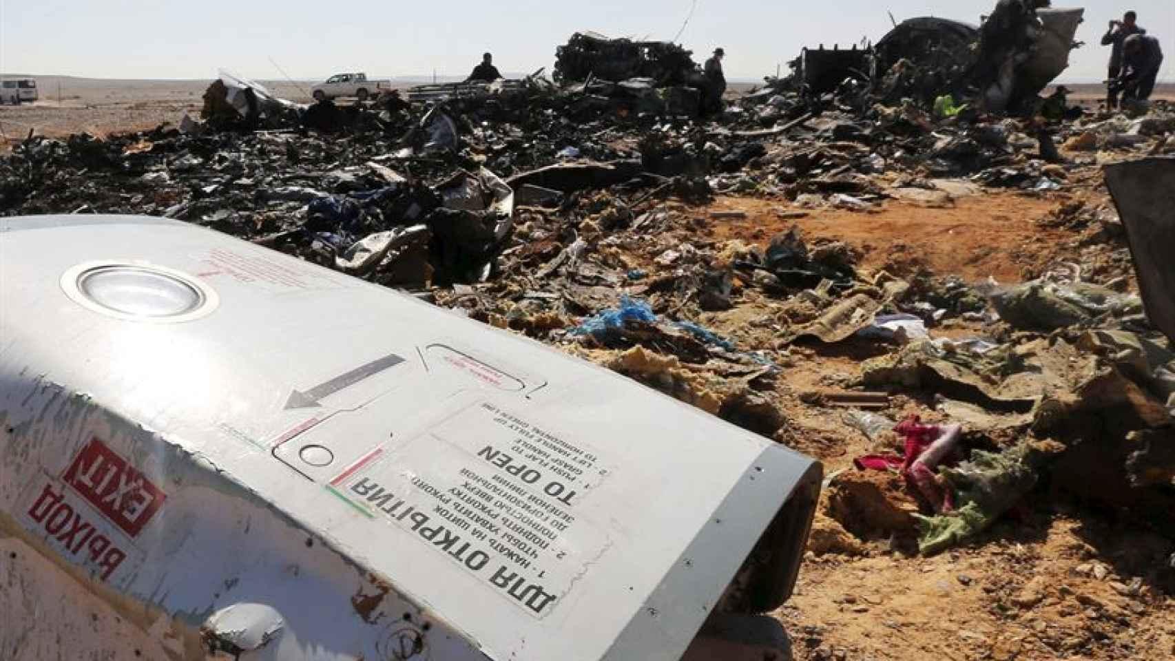 EEUU, al 99,9% seguro de que una bomba derribó el avión ruso en el Sinaí