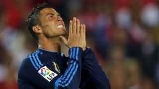 Cristiano Ronaldo se lamenta durante el partido