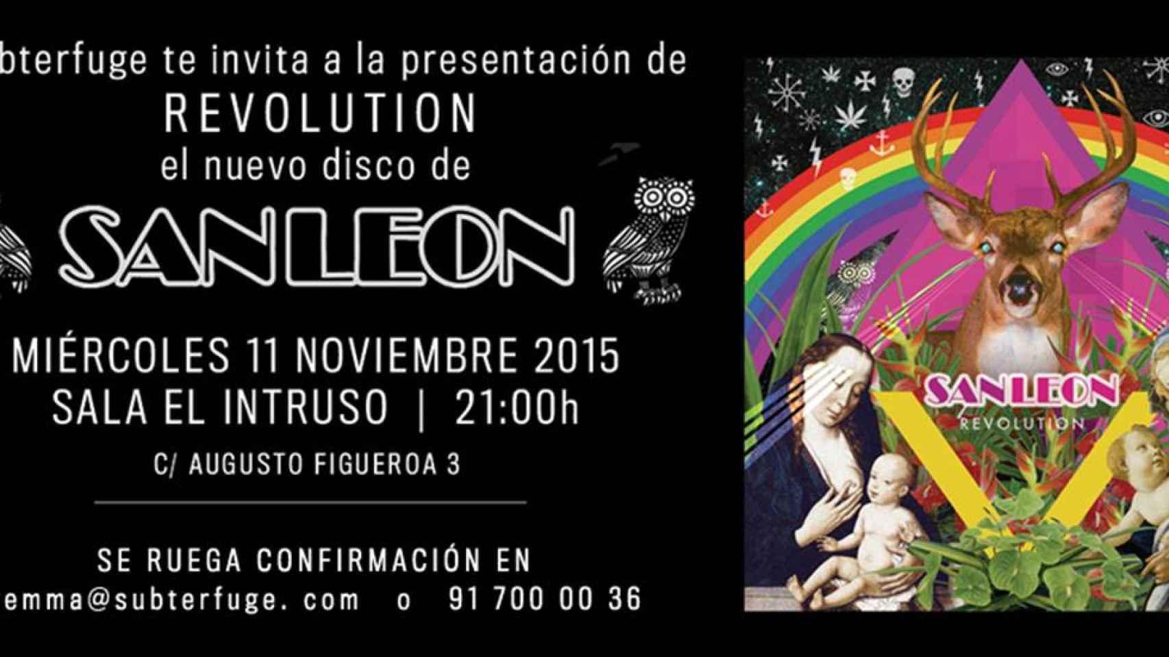 Presentación del disco 'Revolution' (San Leon), el grupo de Aldo Comas.
