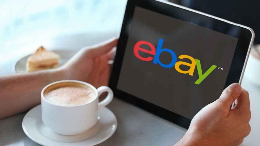 eBay en una tablet.