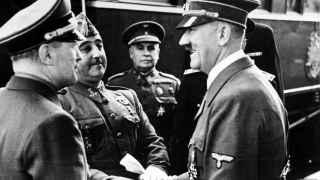 Franco y Hitler, en la cita de Hendaya, 23 de octubre de 1940.