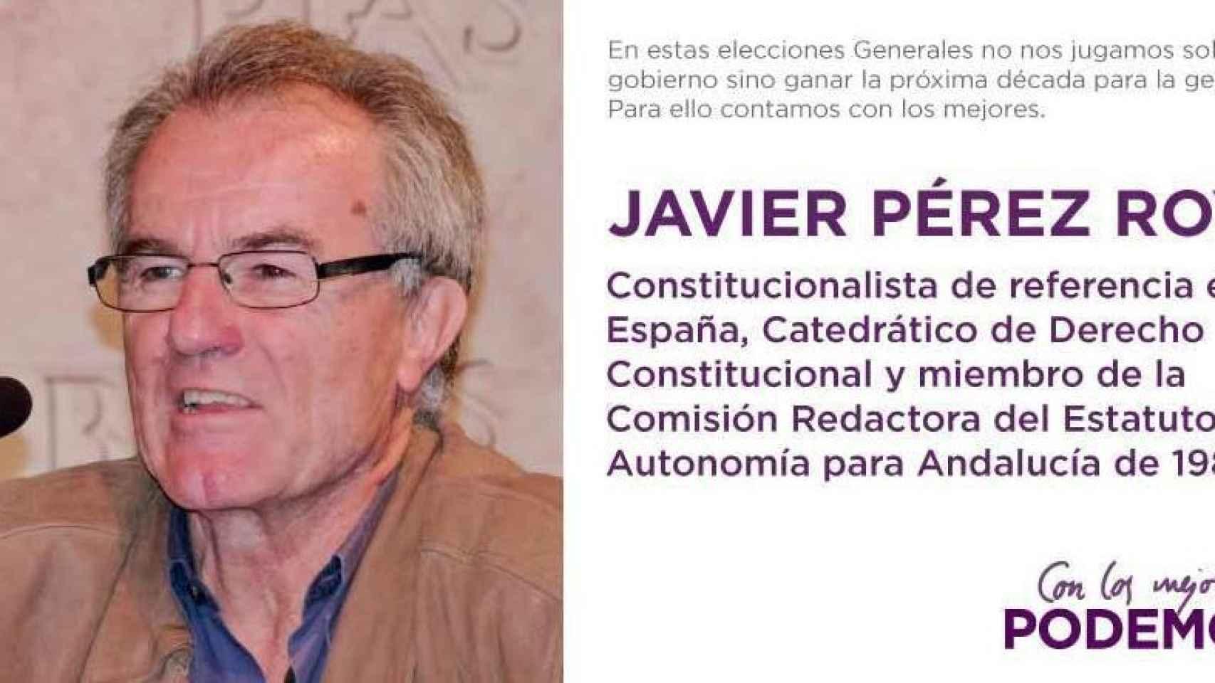 Imagen distribuida por Podemos para anunciar el fichaje de Royo