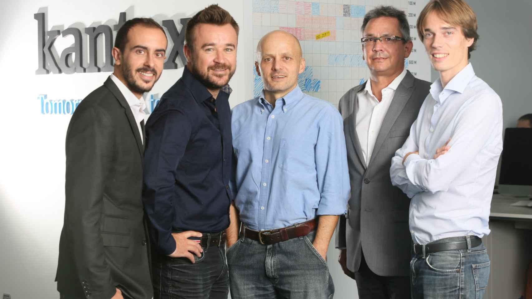 Los cinco cofundadores de Kantox.