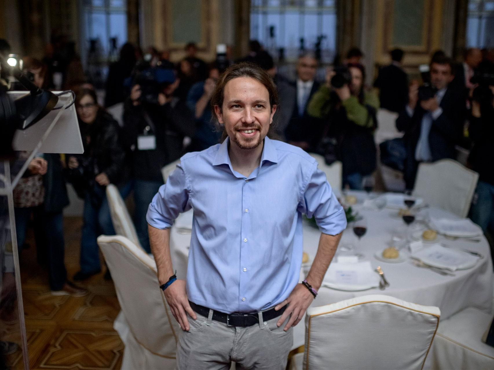 Pablo Iglesias, a su llegada al foro ABC.
