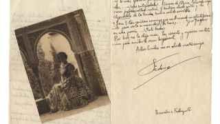 La carta de Lorca a Emilia Llanos Medina.