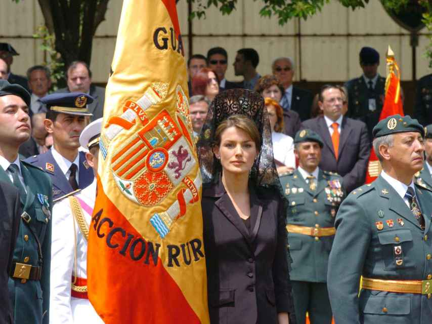 Letizia, siendo Princesa de Asturias en el 25º aniversario de la Guardia Civil en Logroño