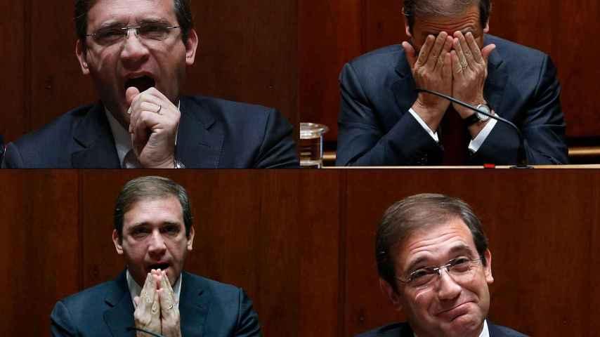 Pedro Passos Coelho, durante la sesión en el Parlamento.