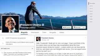 'Muro' de la cuenta de Obama.
