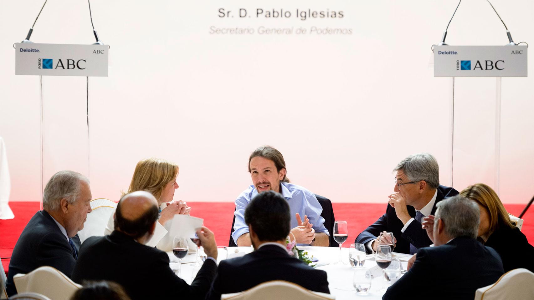 Pablo Iglesias, en el Foro ABC.