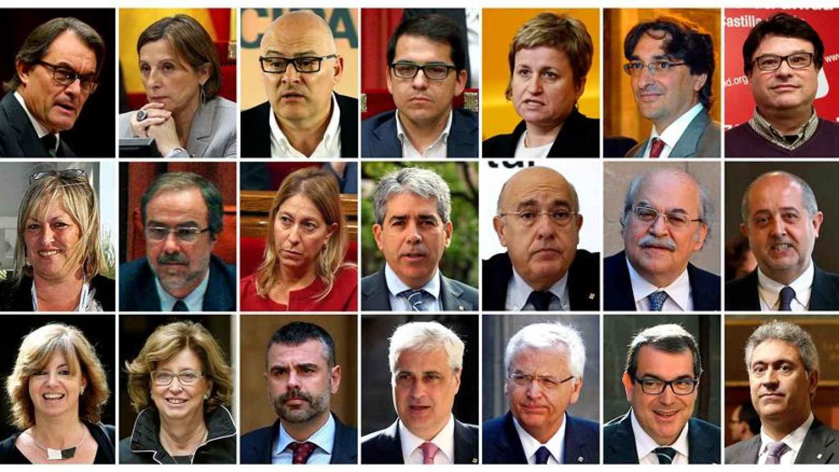 Los 21 cargos apercibidos de responsabilidad penal por el TC.
