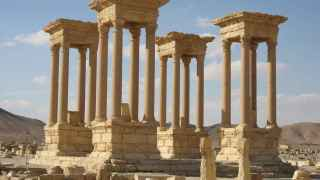 La ruínas de Palmira, amenazadas por el EI.
