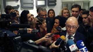 Montoro atiende a la prensa a su llegada a la CEAJE.