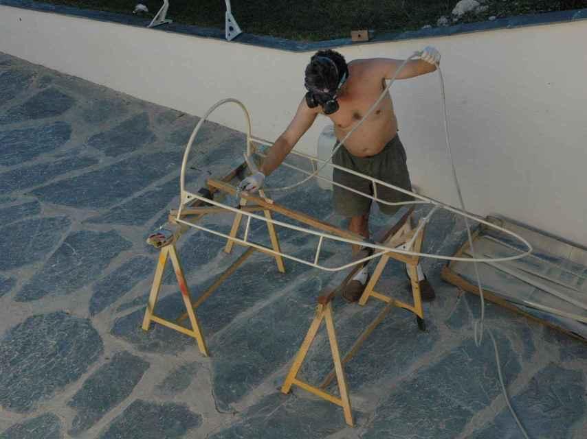El montaje del avión.