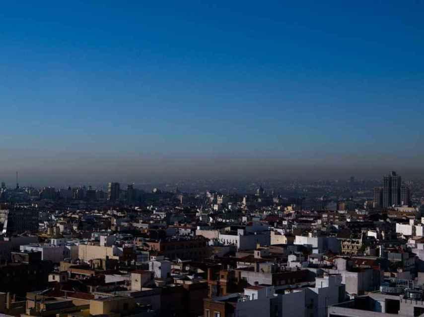 Vista de Madrid este viernes, segundo día en el que permanecía activo el protocolo por contaminación
