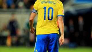 Ibrahimovic, en el último encuentro de Suecia.
