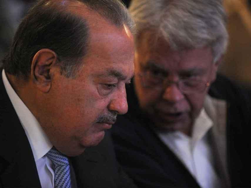 Carlos Slim y Felipe González mantienen una estrecha relación.