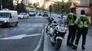 Agentes de Policía Municipal este viernes en Madrid