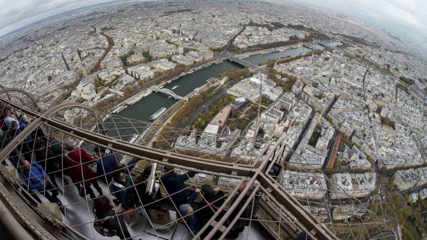 Visión de París desde la Torre Eiffel