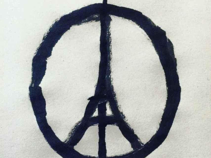 Paz, amor y Eiffel: así creó Jean Jullien el símbolo para París