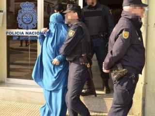 Una de las detenidas en una operación en Cataluña el pasado marzo
