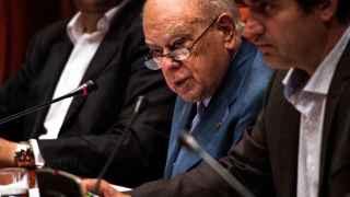 Jordi Pujol, durante su comparecencia ante el Parlment.