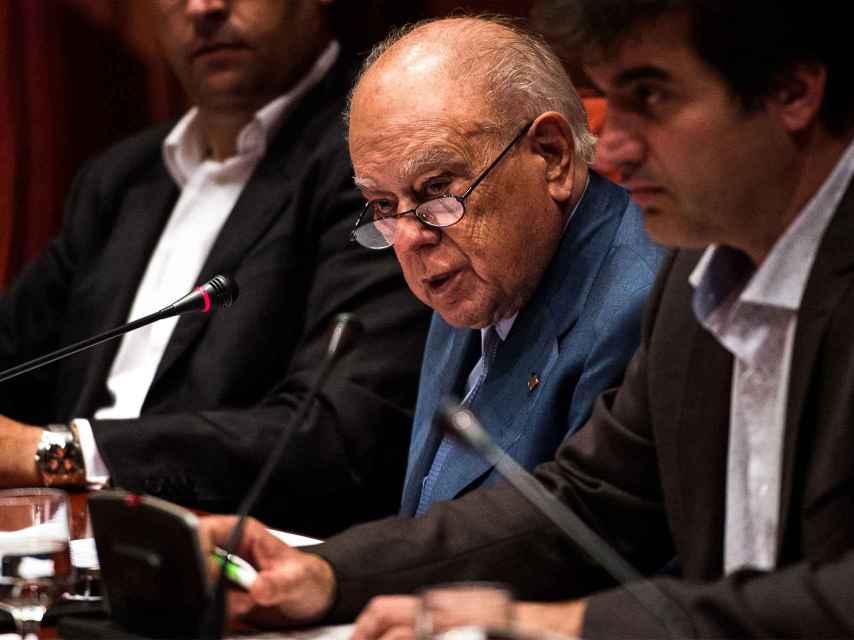 Jordi Pujol, durante su comparecencia ante el Parlament