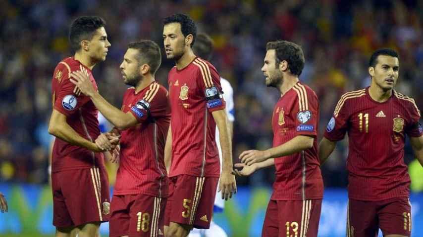 Jugadores de la selección española de fútbol.