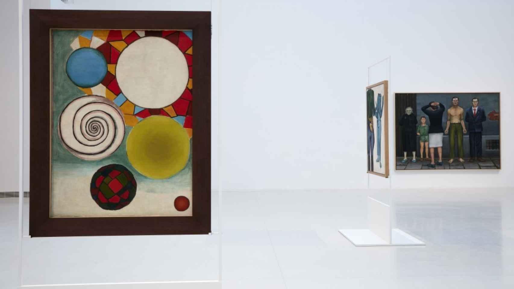 Parte central de la exposición del artista polaco.