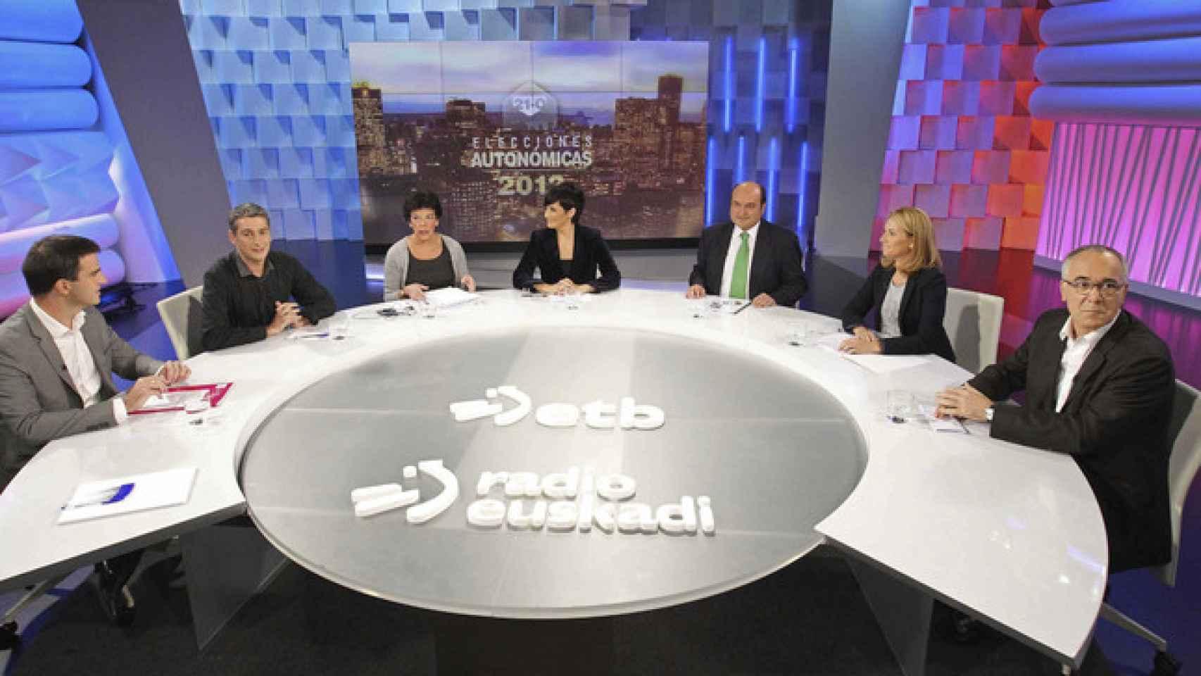 Debate en ETB durantes las últimas elecciones autonómicas. / EFE