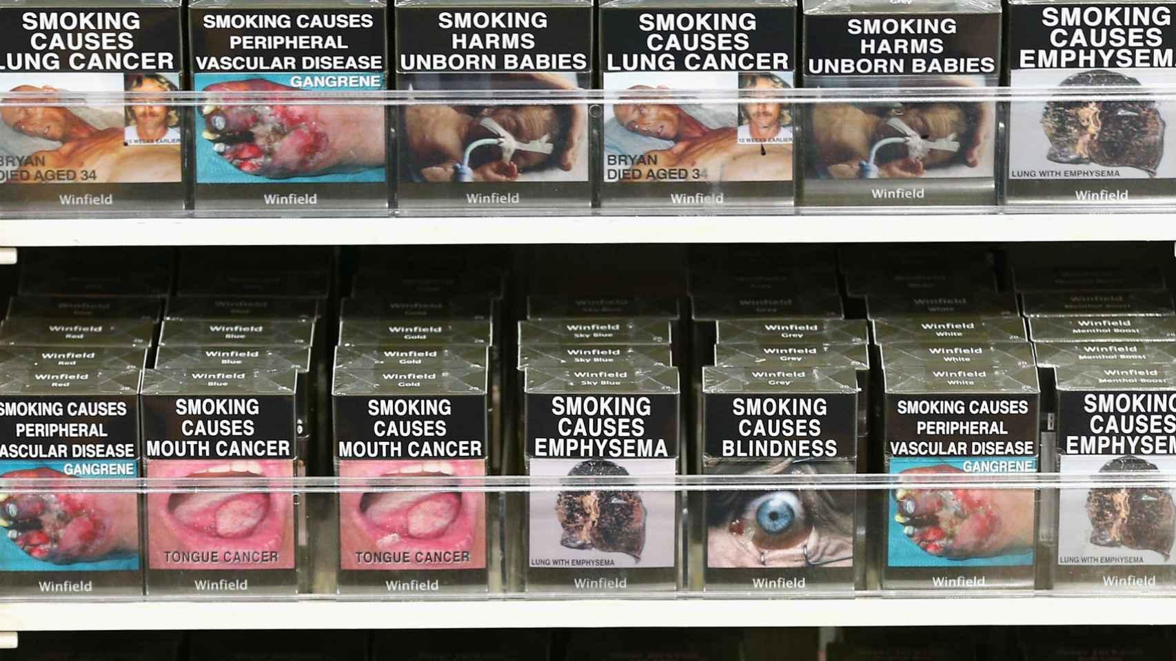 Cajetillas de cigarrillos sin marca australianas