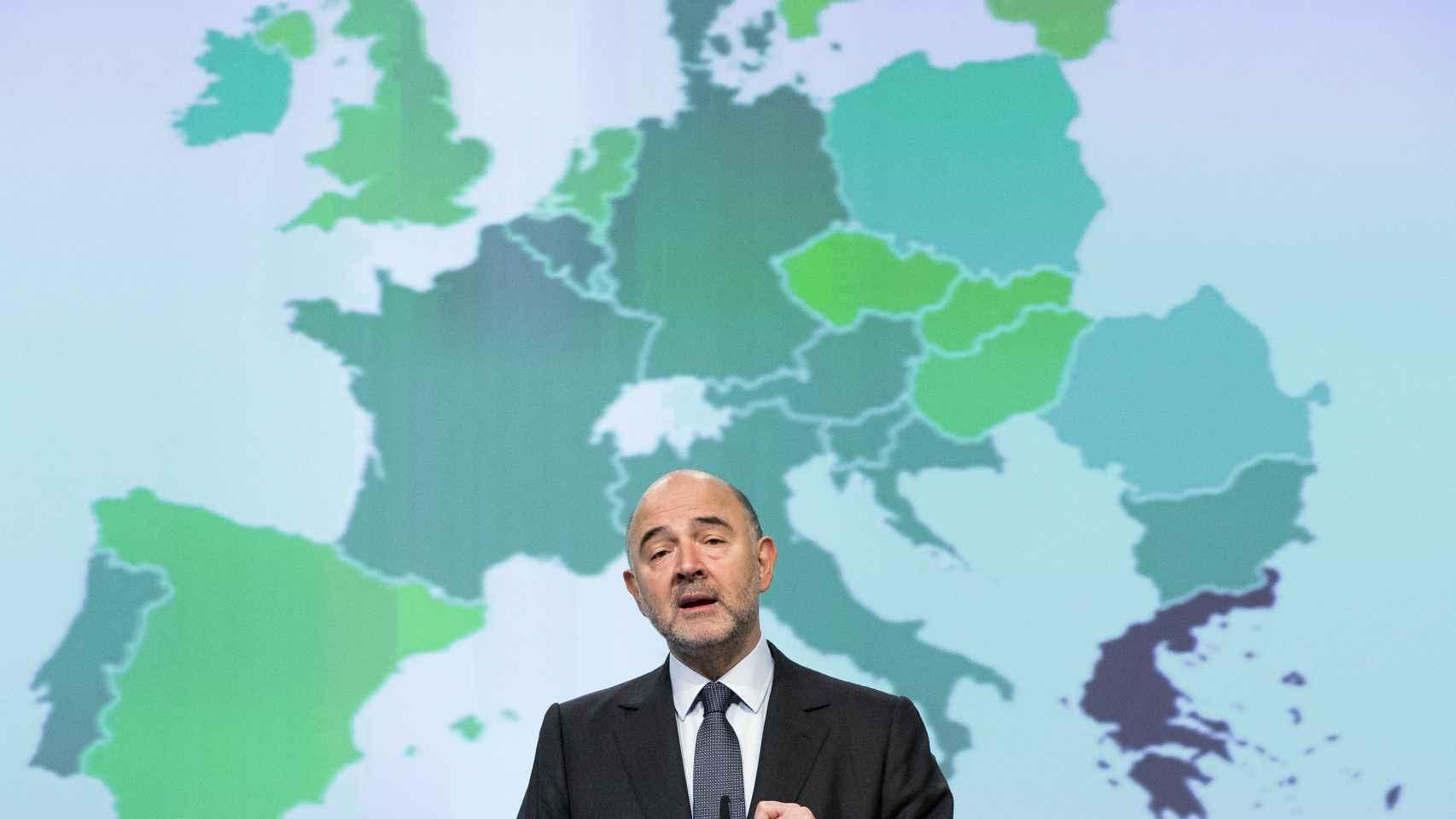 El comisario francés, Pierre Moscovici.