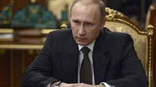 Vladimir Putin, este martes, en una reunión en el Kremlin sobre la tragedia aérea de Metrojet