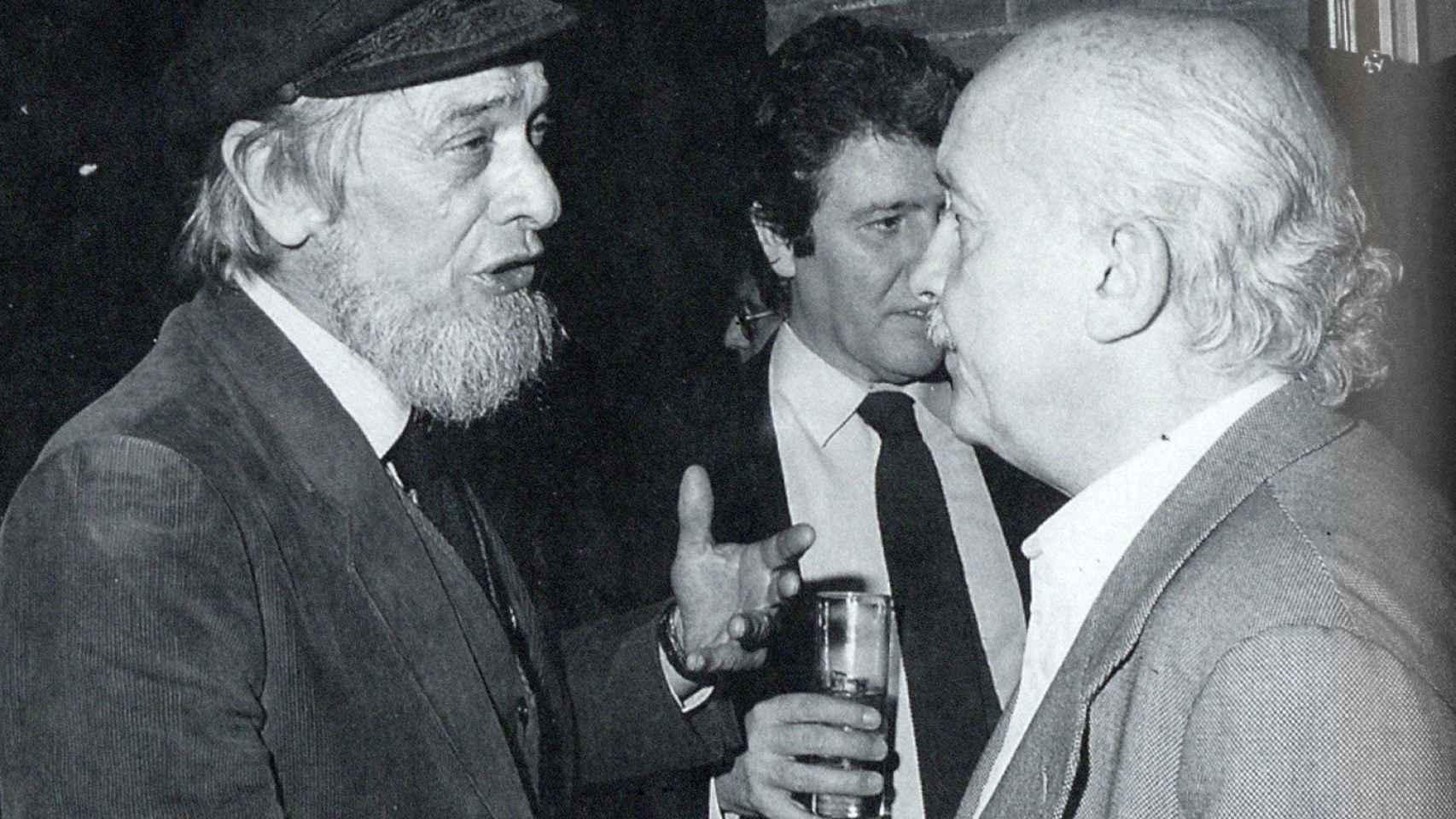 Barral con Jorge Herralde y Ricardo Muñoz Suay