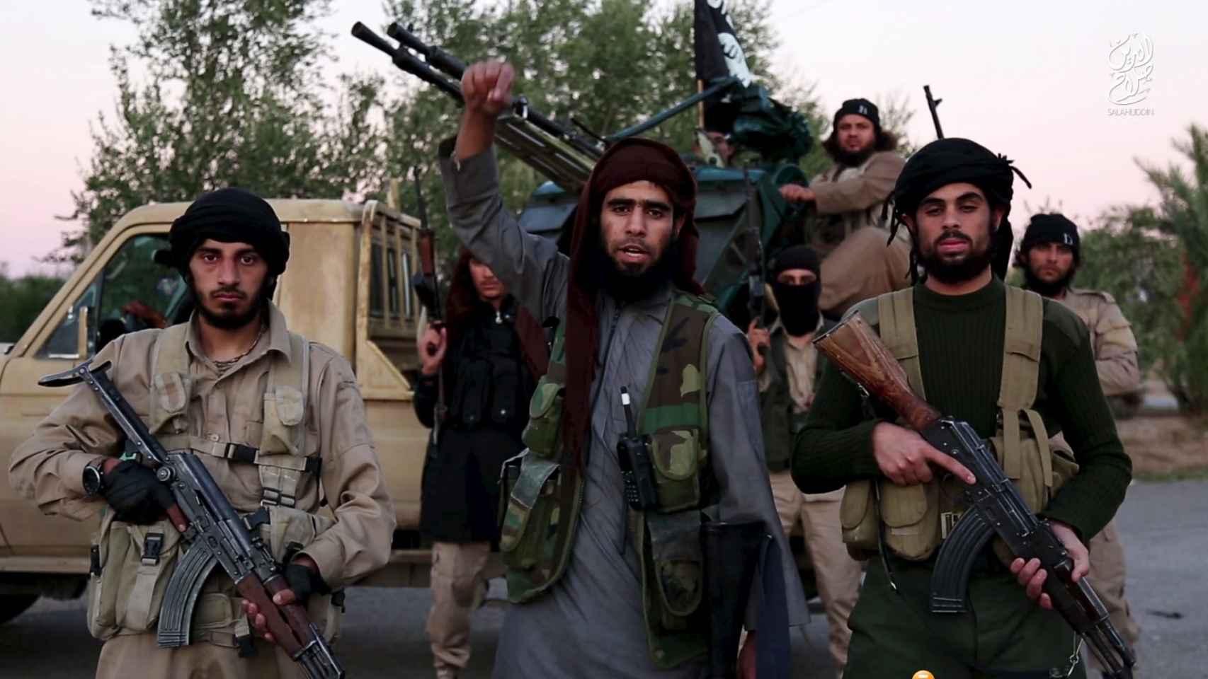 Imagen tomada de un vídeo del grupo terrorista Estado Islámico.