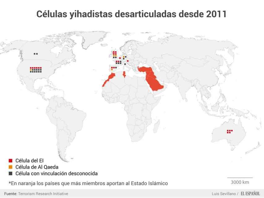 Cuatro gráficos que explican como se organiza el EI en Occidente