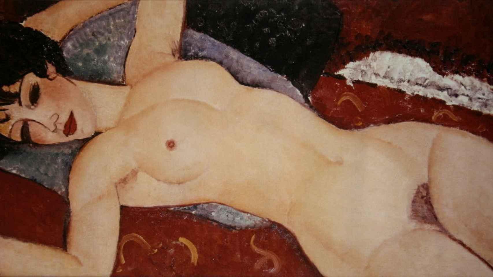 'Desnudo acostado', de Modigliani.