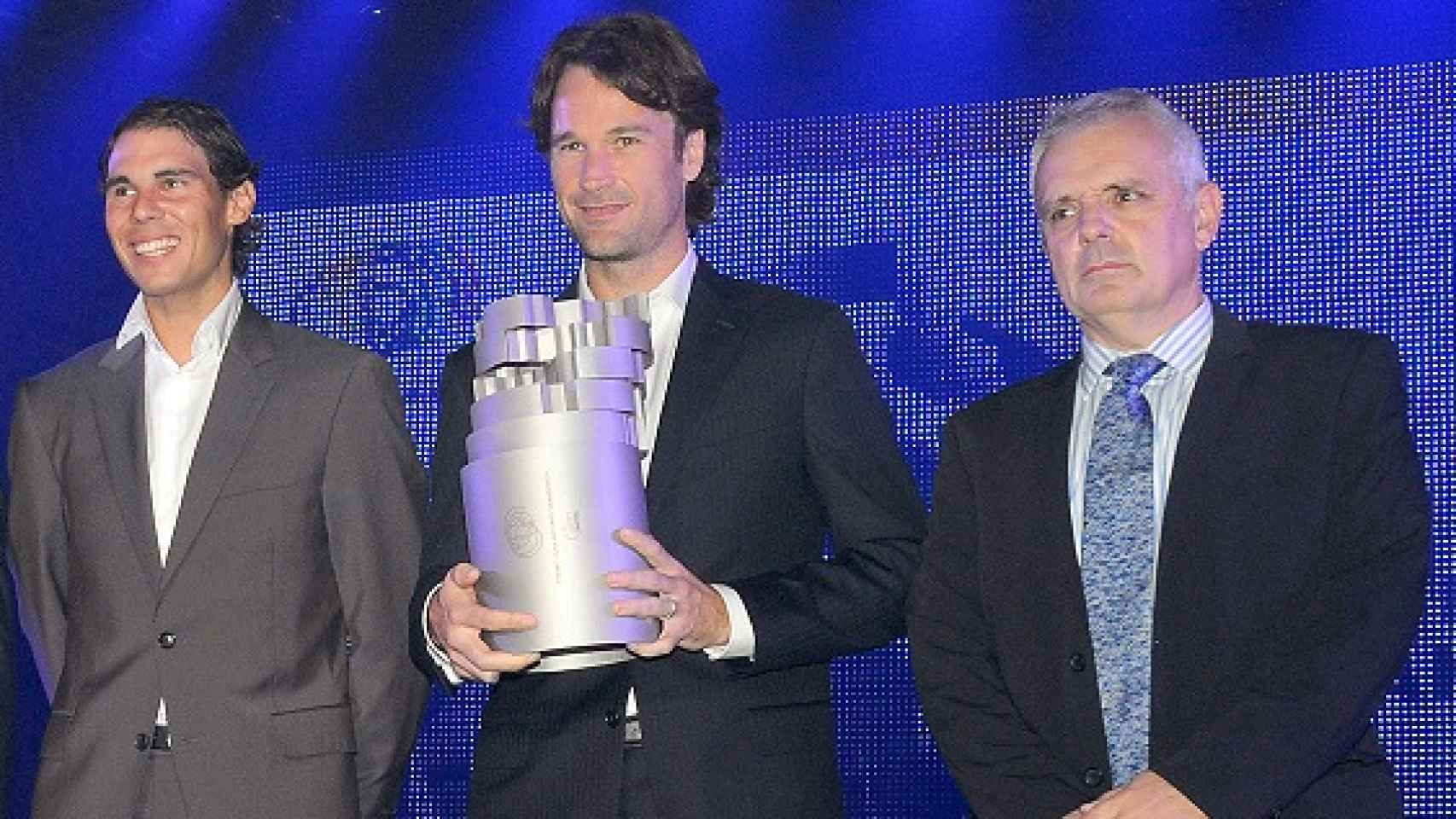 En la entrega del Premio 'Juan Antonio Samaranch' con Rafa Nadal y Carlos Moyá