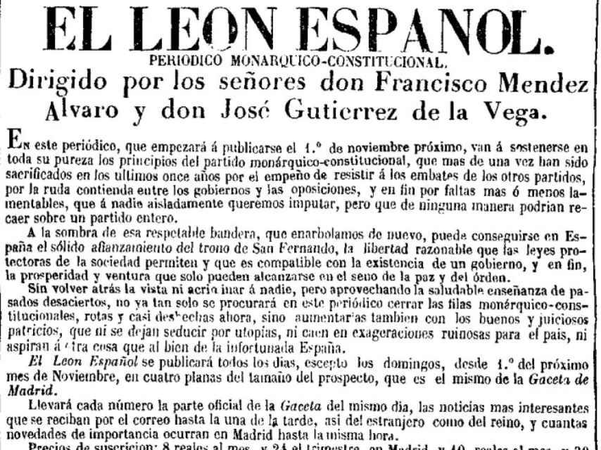 Cabecera de El León Español