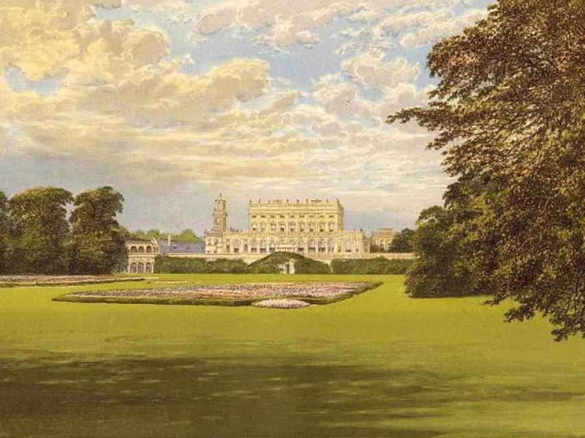 Cliveden, la fantástica propiedad del siglo XVII comprada por Astor, según un cuadro de 1851.