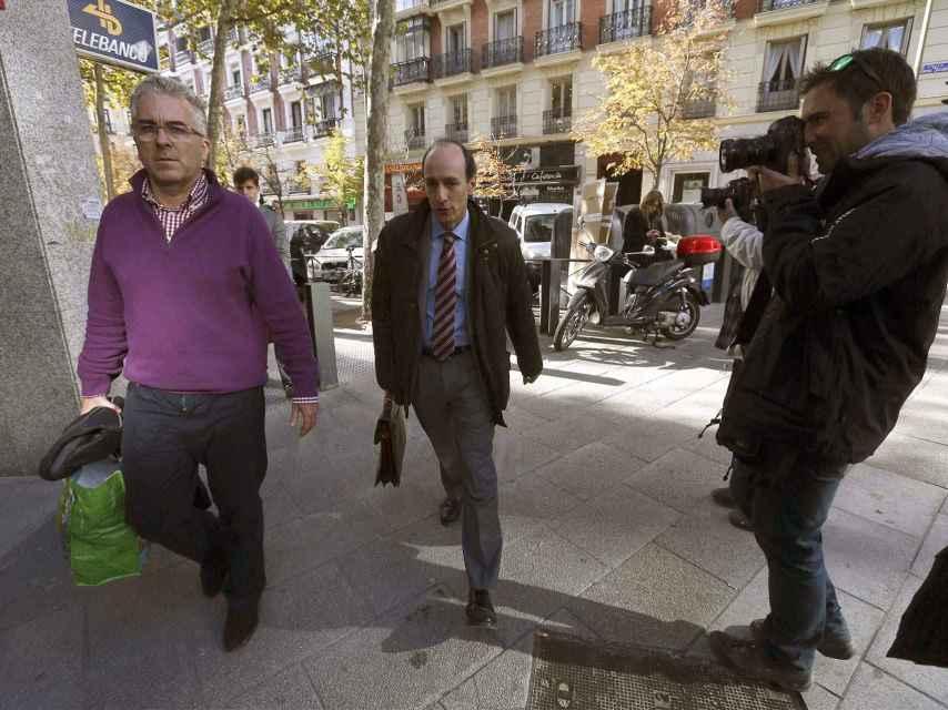 Ignacio Palacios, a su salida de la Audiencia Nacional.