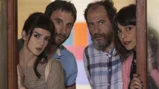 Lago, Rovira, Elejalde y Cuesta, en la película