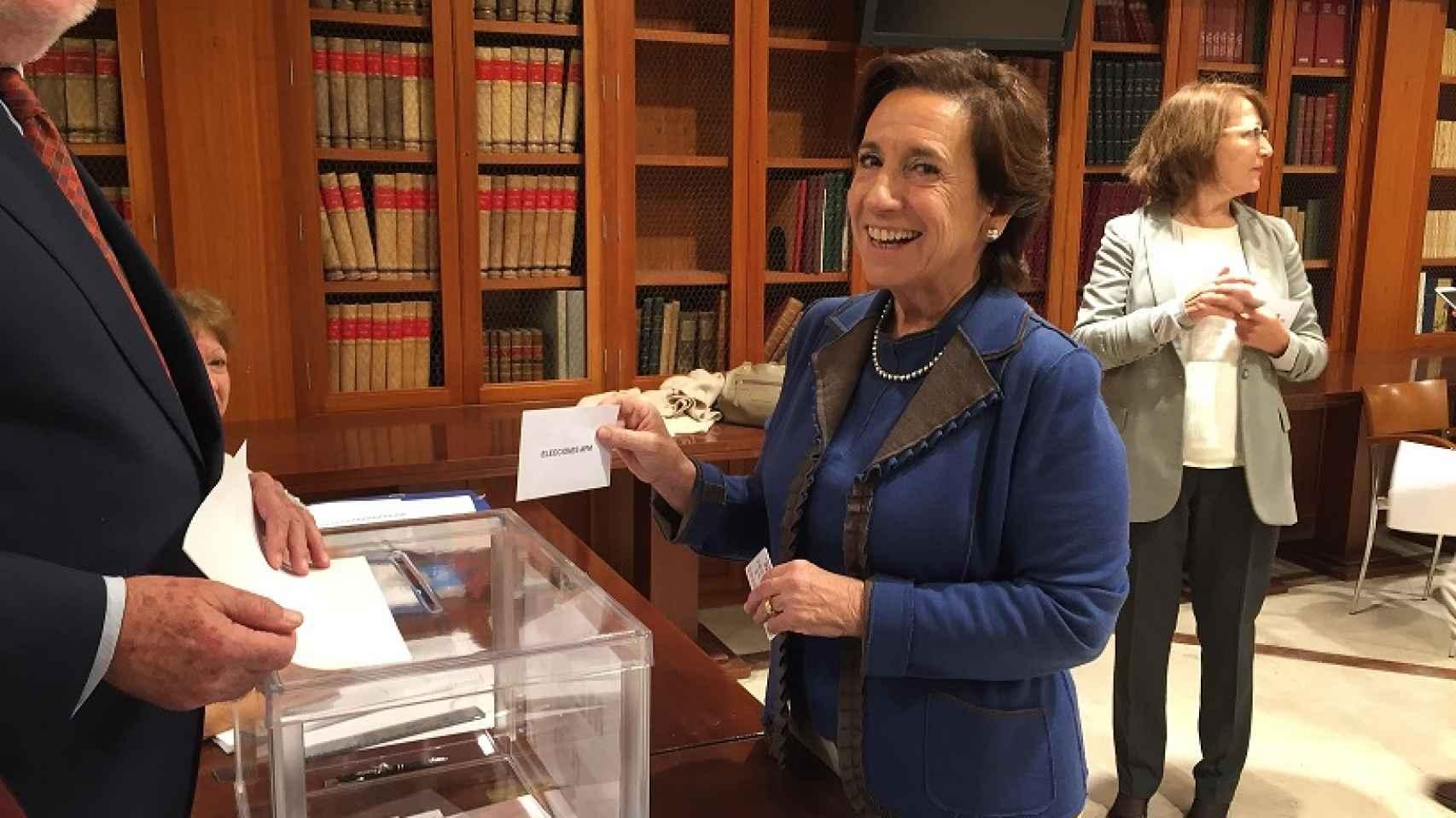 La presidenta de la Asociación de la Prensa de Madrid, Victoria Prego.