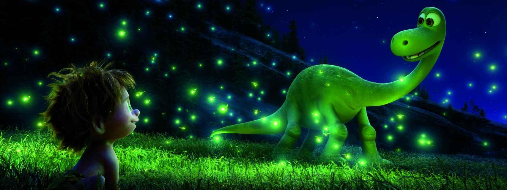 El humano Spot y el dinosaurio Arlo, en el filme