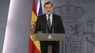 Mariano Rajoy en el Palacio de la Moncloa