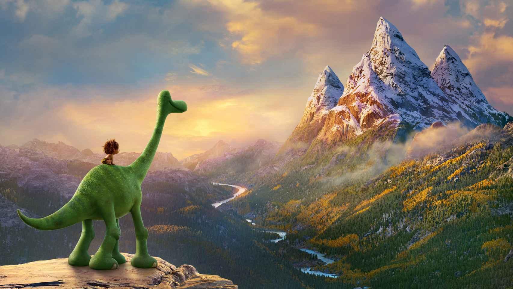 El dinosaurio Arlo y el humano Spot, en el filme