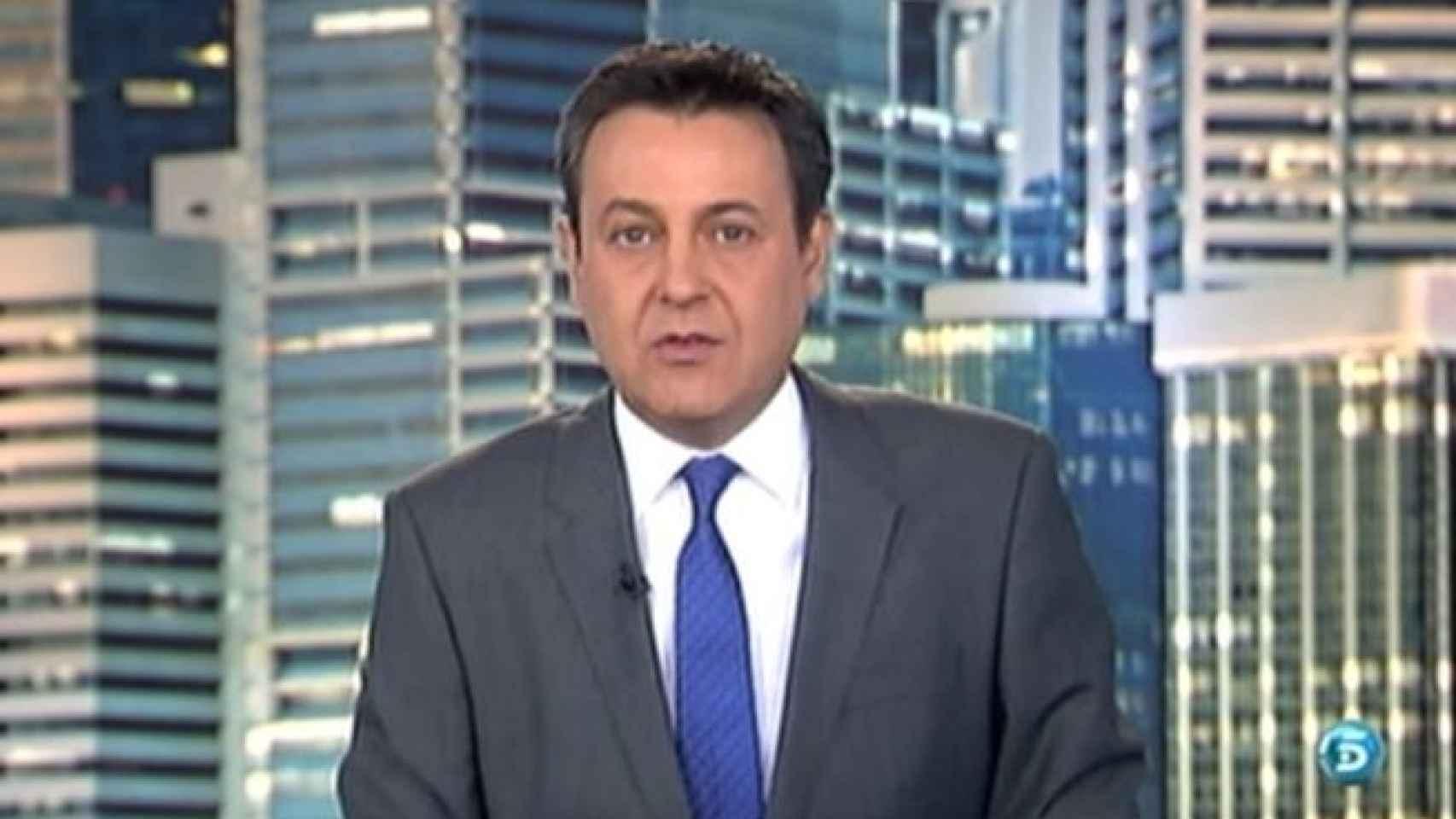Pepe Ribagorda, presentador de Informativos Telecinco