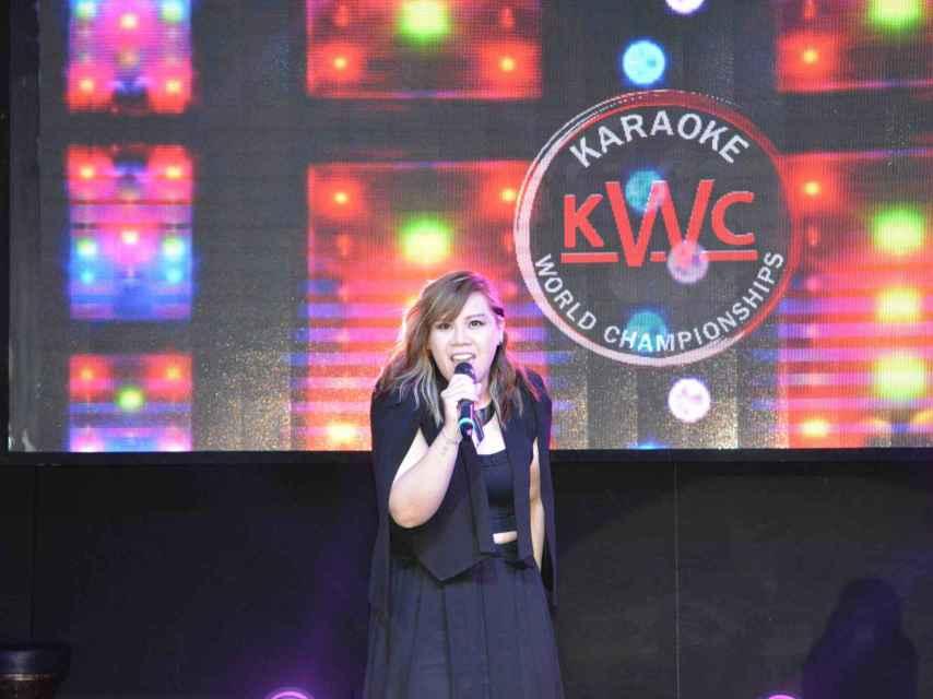 La cantante de Macao.