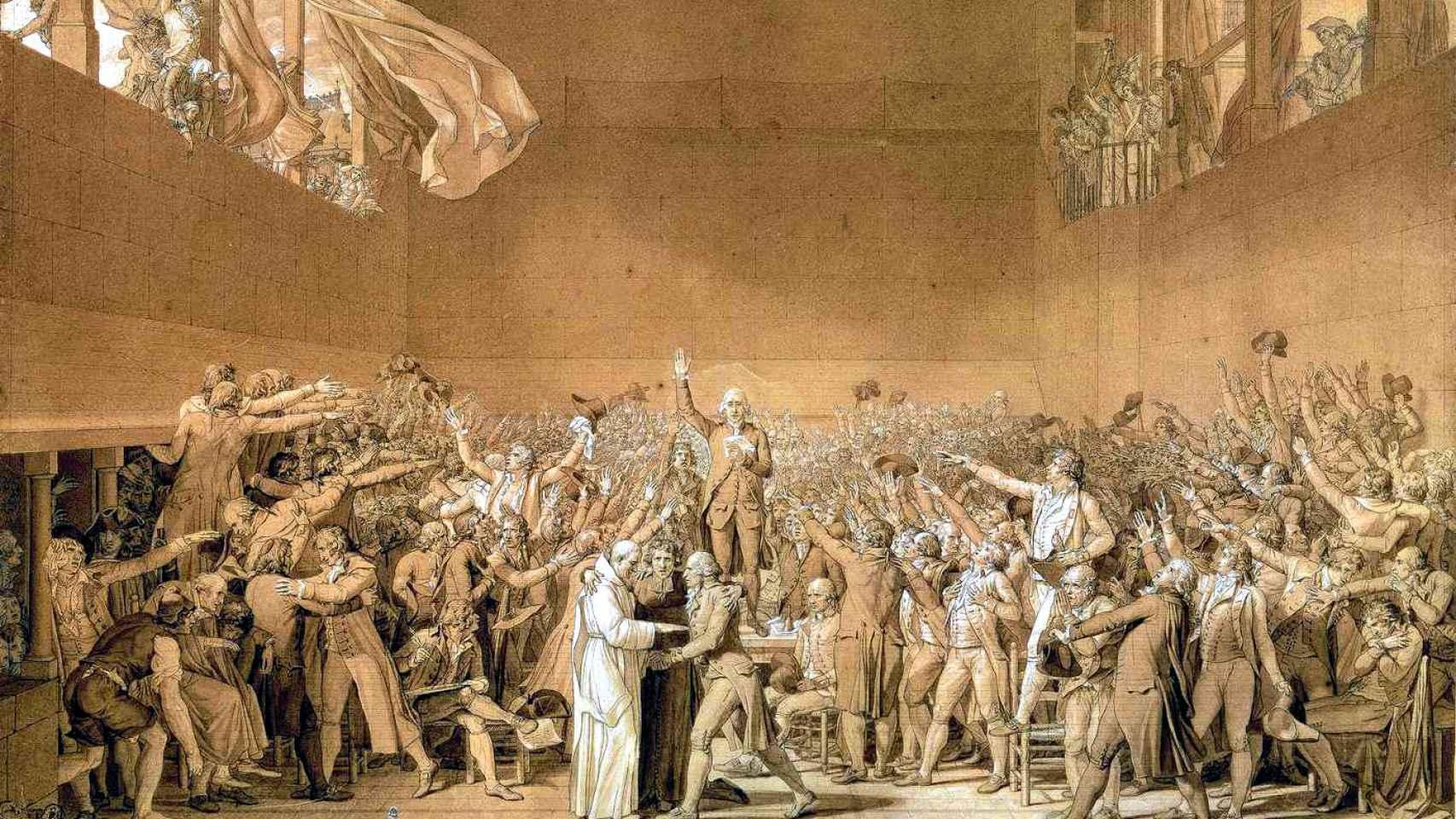 El juramento de Jeu de Paume, obra de Jacques-Louis David.