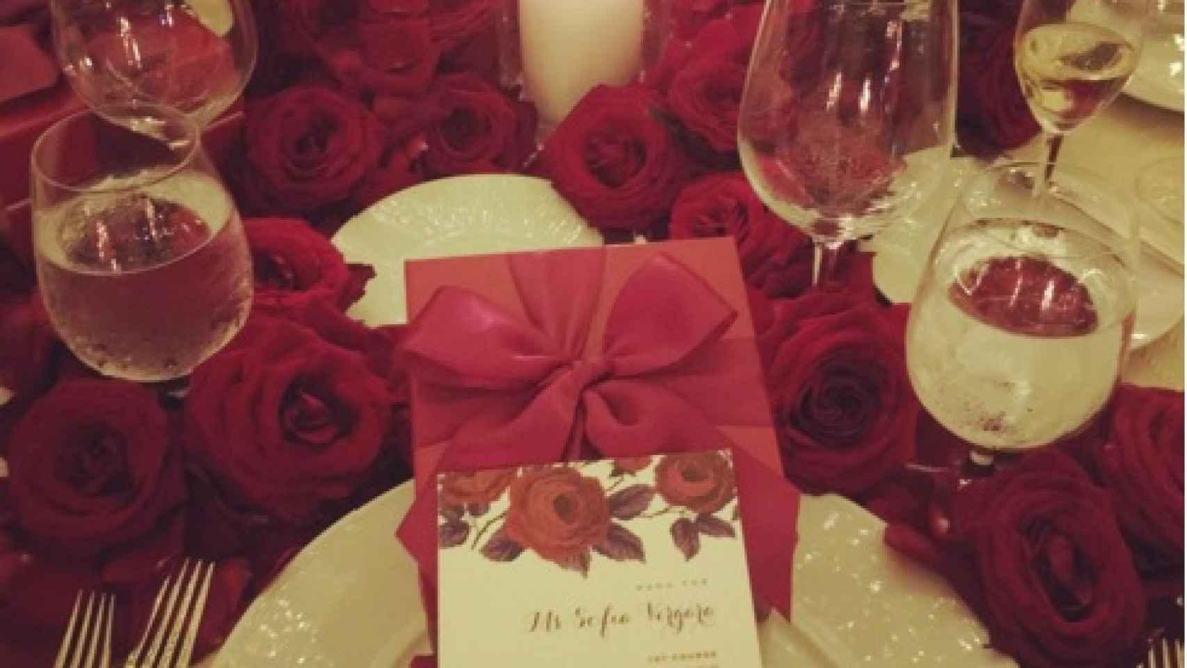 En la decoración de las mesas ha predominado el rojo pasión