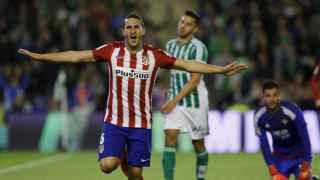Koke celebra el gol contra el Betis. / Reuters